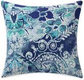 Tracy Porter Poetic Wanderlust® Astrid Printed Velvet Square Throw Pillow in Blue