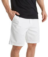 Nautica Men's Flat Front Deck Short,Bright hite,34