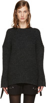 3.1 Phillip Lim Grey Eyelet Sweater