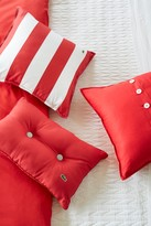 Lacoste Brushed Stripe Twill Pillow - 18 x 18 - Rococco Red
