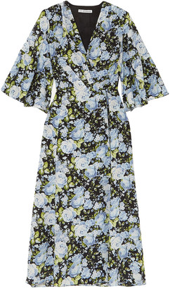 Les Rêveries Floral-print Silk Crepe De Chine Wrap Dress