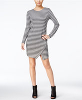 Kensie Striped Envelope-Hem Sheath Dress