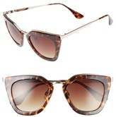 BP Women's Dejavu 51Mm Cat Eye Sunglasses - Tort
