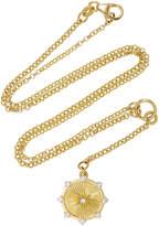 Foundrae Diamond Spark Medallion on Fine Belcher Chain