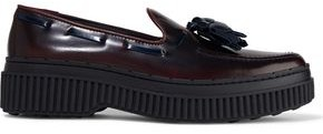 Tod's Tasseled Glossed-leather Loafers