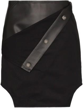Zilver Fold-Over Panelled Mini Skirt