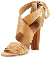 Vince Beatrice Leather & Suede Wrap Sandal, Sand