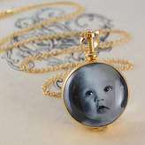 Otis Jaxon Silver Jewellery Gold Vintage Round Double Sided Locket Necklace