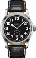 Longines L2.811.4.53.0 Heritage stainless steel and leather watch