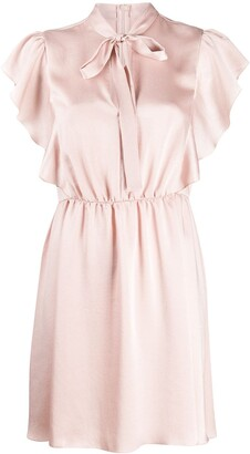 RED Valentino pussy bow satin mini dress