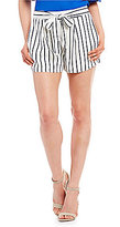 Skies Are Blue Stripe Tie Front Shorts