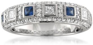 Montebello Jewelry Montebello 14KT White Gold Gemstone and 1/2ct TDW Diamond Wedding Band