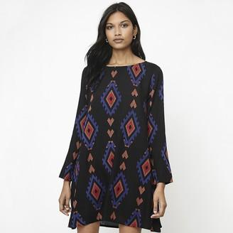 Compania Fantastica Short Shift Dress in Tribal Print