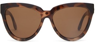Le Specs Liar Liar Oversized Cat-eye Sunglasses - Brown