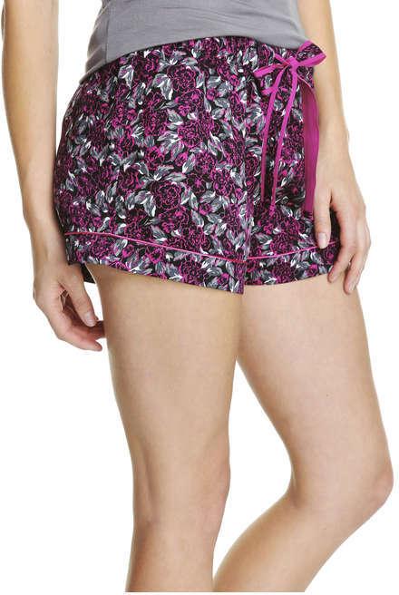 Joe Fresh Women's Print Drawstring Sleep Shorts, Print 1 (Size S)