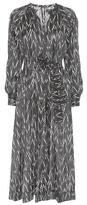 Isabel Marant Olympe Printed Silk Midi Dress