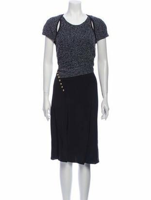 3.1 Phillip Lim Crew Neck Midi Length Dress w/ Tags Blue