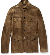 Tom Ford Icon Military Slim-fit Suede Field Jacket - Brown
