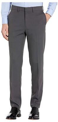 Kenneth Cole Reaction Unlisted Stretch Heather Gab Slim Fit Flat Front Flex Waistband Dress Pants (String) Men's Dress Pants