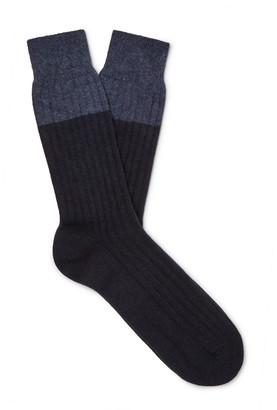 NN07 Colour-Block Knitted Socks