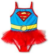 Superman Supergirl Toddler Girls' 1-Piece Swimsuit - Red