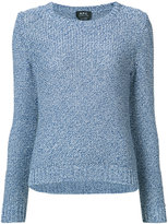A.P.C. tweed jumper - women - Silk/Cotton - XS
