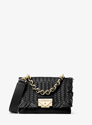 Michael Kors Cece Extra-Small Woven Leather Crossbody Bag