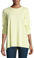 Eileen Fisher Long-Sleeve Slubby Organic Jersey Top