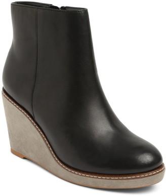 Kensie Leather Wedge Booties - Hatley
