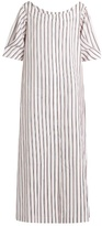 Isa Arfen Bunting Stripe button-down cotton dress