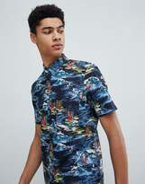 French Connection Surf Print Short Sleeve Shirt