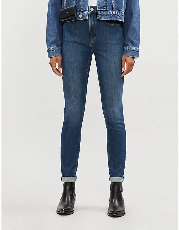 Calvin Klein CK50 high-rise stretch-denim skinny jeans