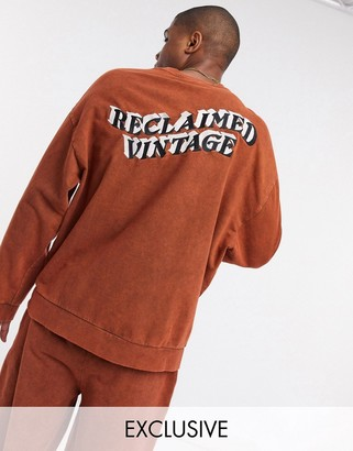 Reclaimed Vintage inspired oversized sweat in brown