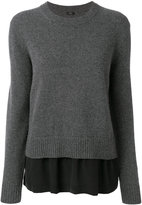 Joseph layered crew neck sweater