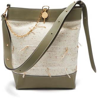 J.W.Anderson Keyts Leather And Canvas Tote Bag - Womens - Beige Multi