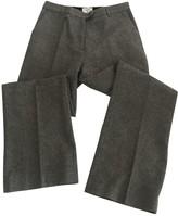 Erdem X H&M X H&m Grey Wool Trousers for Women