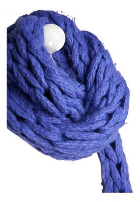 Maison Margiela Blue Wool Scarves