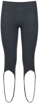 Jacquemus Ribbed Knit Viscose Blend Leggings