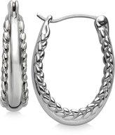 Nambe Braid Hoop Earrings in Sterling Silver, Only at Macy's