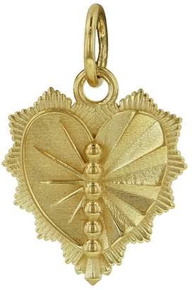 Foundrae Left Miniature Heart Love Token Medallion - Yellow Gold