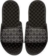 ISlide Star Outline Slide Sandal, Black