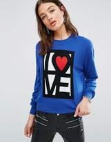 Love Moschino Reflection Cashmere Wool Mix Jumper