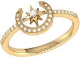 Lmj Crescent North Star Ring In 14 Kt Yellow Gold Vermeil On Sterling Silver