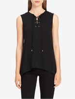 Calvin Klein Lace-Up Sleeveless Top