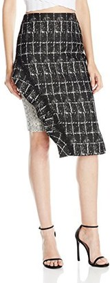 Jonathan Simkhai Women's Ruffle Space Dye Pencil Skirt