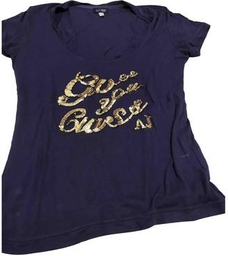 Armani Jeans Purple Glitter Top for Women