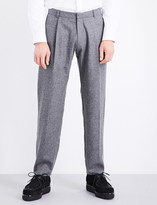 Chalayan Oversized tapered mid-rise wool trousers