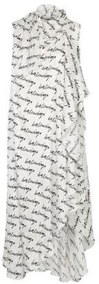 Balenciaga Stola long printed dress