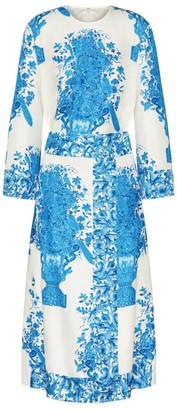 Valentino Bluegrace Bouquet Long-Sleeved Dress