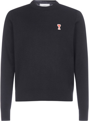 Ami Alexandre Mattiussi Ami-de-coeur Logo Merino Wool Sweater